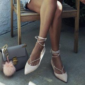New M. GEMI Brezza Suede Lace-up Ballet Flats 6